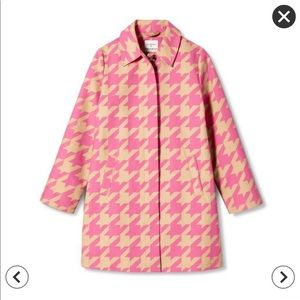 NWT Isaac Mizrahi for Target pink houndstooth coat